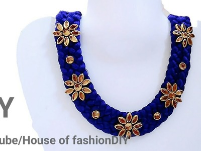 How To Make Silk Thread Necklace At Home. !