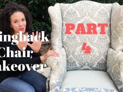 How to Reupholster a Wingback Chair! PART 4: How to Tie 8 Way Hand Tie Springs - Thrift Diving