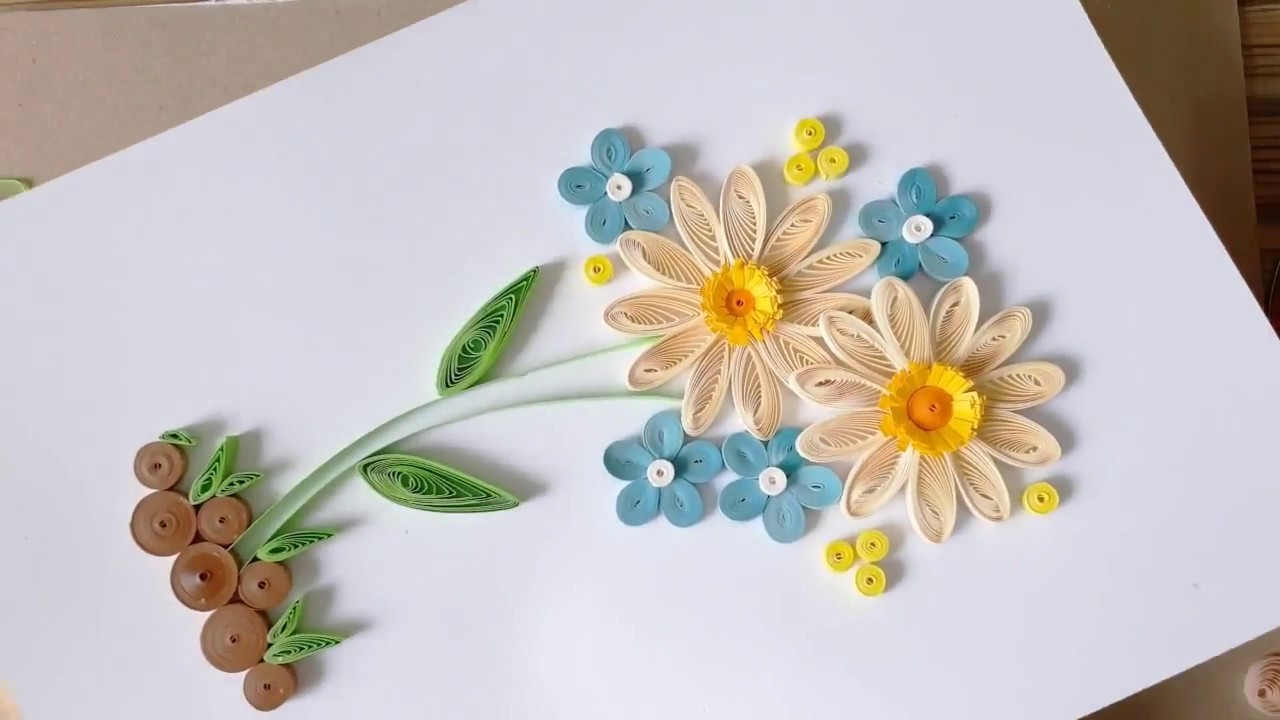 Kids Craft Diy Quilling Paper For Kids Learning 05 Quilling Flower