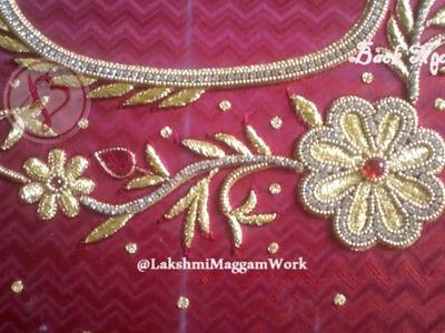 Lakshmi Maggam Work || Full Zari Load Work