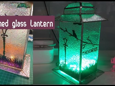 Making a Stained Glass Pagoda Lantern