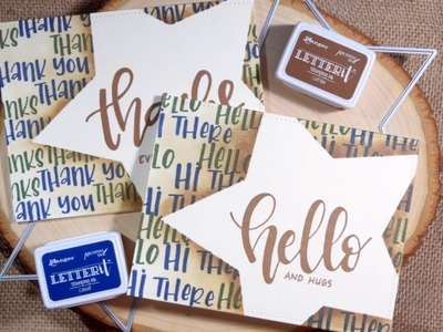 Masculine Thank You and Hello Card with Ranger Letter It