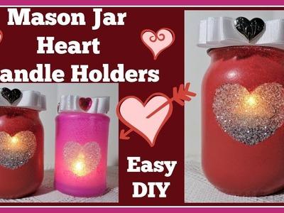 Mason Jar Heart???? Candle Holder DIY????