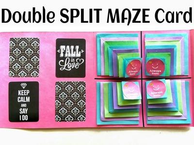 Multi Split Maze Card   Scrapbook - DIY Tutorial - 867