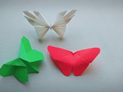 Origami Butterfly | Paper Craft 3D | Easy Origami For Beginners | 3 Types Butterflies