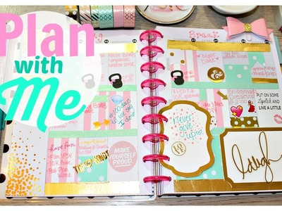Plan with me | Pink, Mint Green and Gold | Happy Planner 2016