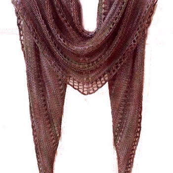 SPRING SCARF SHAWL KNITTING PATTERN