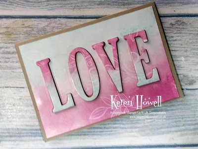 Stampin' Up! Floating Letters