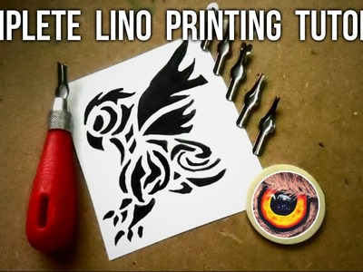 ULTIMATE GUIDE TO LINO PRINTING   STEP BY STEP TUTORIAL