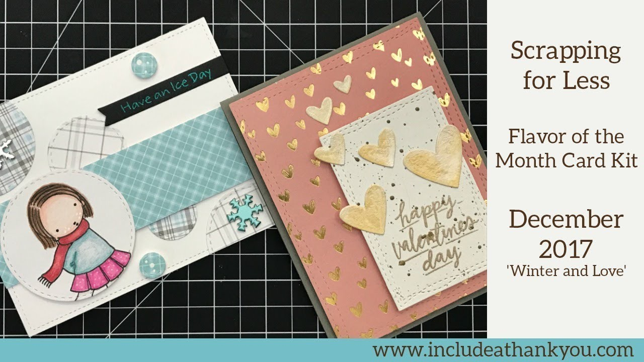 UnBoxing Flavor of the Month Card Kit - December 2017 | Scrapping for Less | + Card Tutorials