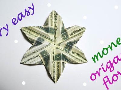 Very Easy Money Flower Origami Dollar Tutorial DIY Folded No glue
