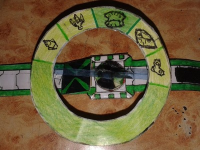 """Aliens ring"" how to make paper (ben 10 omniverse omnitrix aliens ring)"