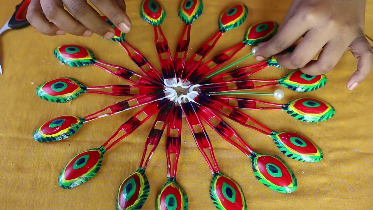 Amazing Diwali Decoration With Plastic Spoon Idea Diy Plastic