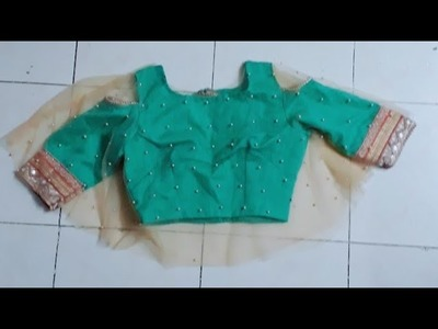 Cape blouse cutting.how to cut cape blouse. blouse cutting