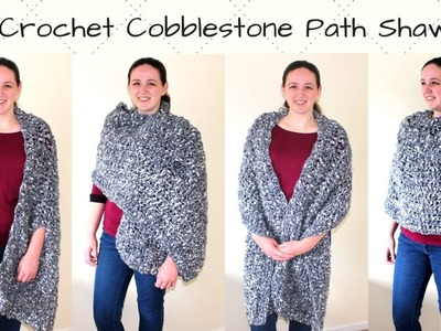Crochet Oversized Rectangle Shawl - Crochet Cobblestone Path Shawl