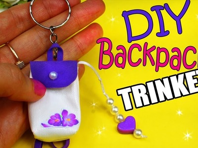 DIY BACKPACK TRINKET TUTORIAL   CUTE FOR KEYS AND TO GIFT
