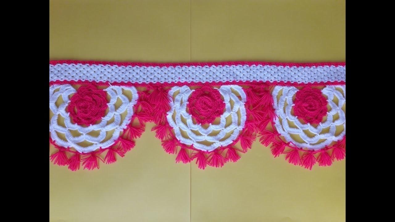 DIY Door Hanging Toran from Woolen Flowers Toran Very Easy. How to make Door Hanging Toran
