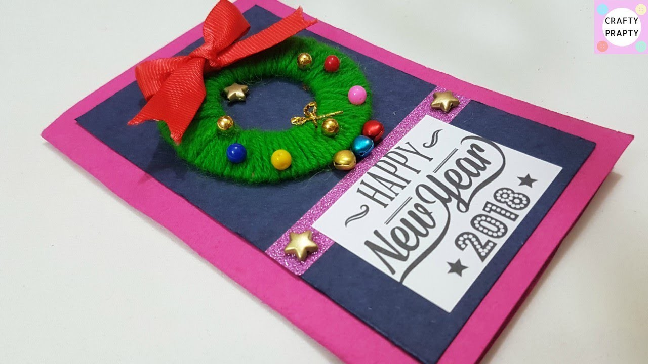 diy happy new year greeting card how to make new year card happy new year 2018 card