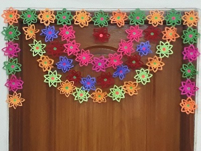 DIY | Paper Door Hanging | How to make Paper Toran | Siri Art&Craft |