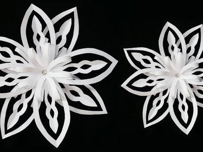 DIY: Paper Snowflake !!! How to Make Easy 3D Paper Snowflake !!!