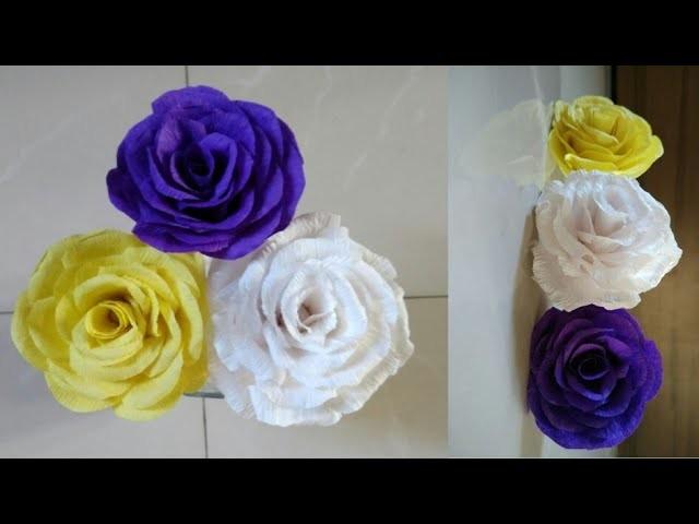 Diy rose flowermaking crepe paper flowerhow to make paper flowers diy rose flowermaking crepe paper flowerhow to make paper flowerscrepe paper rosespaper flower mightylinksfo