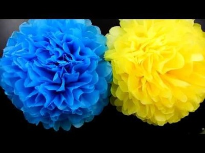 DIY Tissue paper flowers for decoration