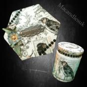 Gift Set of handmade Candle & Box