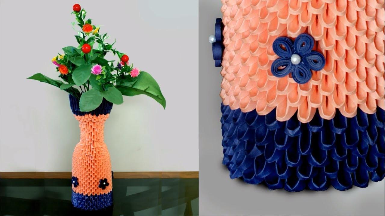 Handmade paper flower vase 3d origami flower vase diy how to handmade paper flower vase 3d origami flower vase diy how to make flower vase using paper mightylinksfo