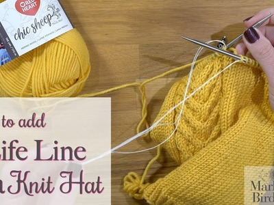 How to add a Life Line to a Knit Hat