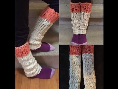 How to crochet super easy leg warmers