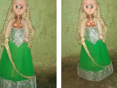 How to decorate a doll with pipes