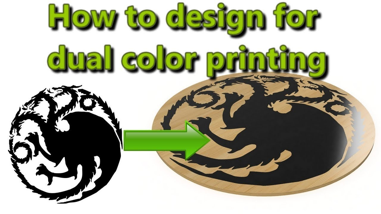 How to design for dual color printing with Fusion 360?