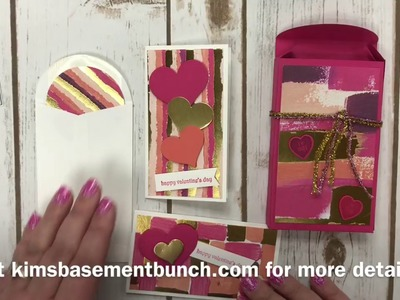 How to DIY Valentines and cute coordinating box using Stampin' Up's Sure Do Love You Bundle