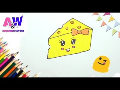 How to draw a cheese???? step by step