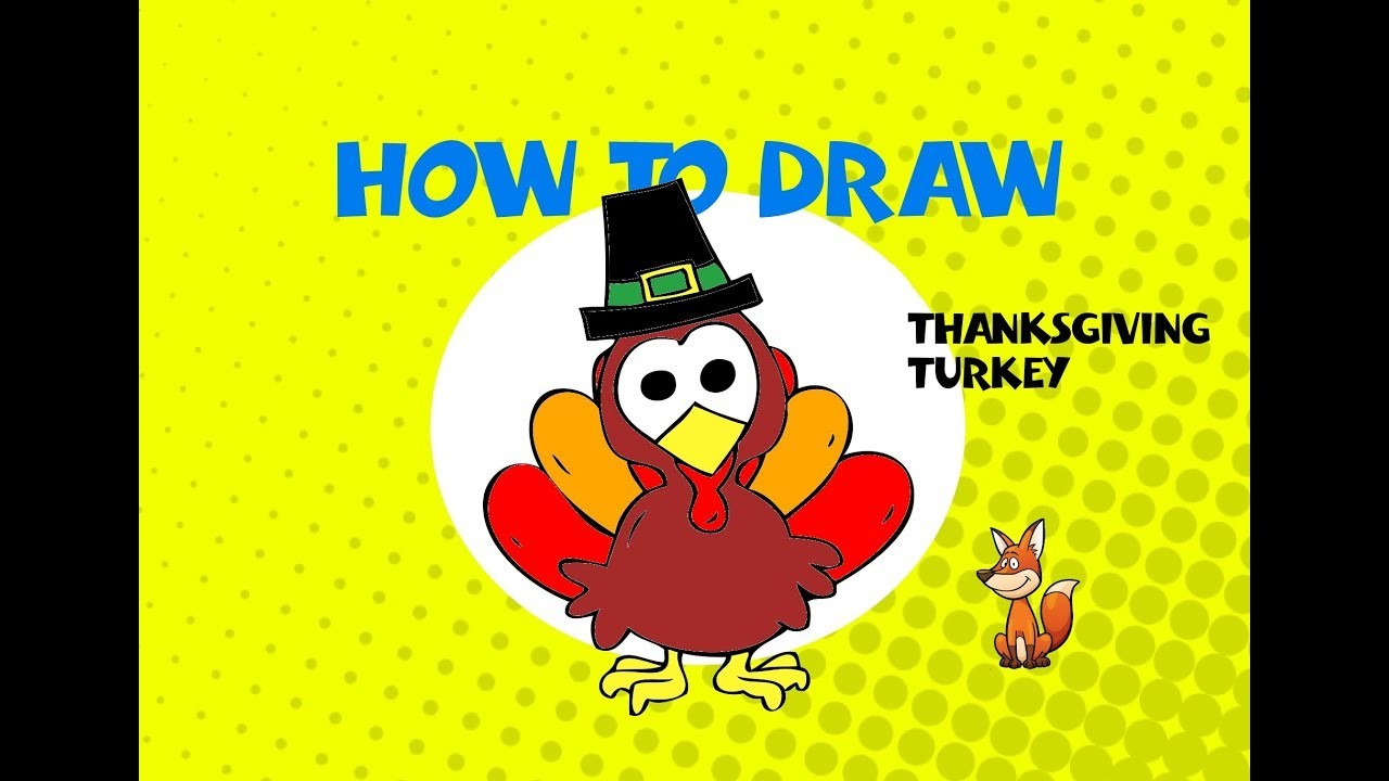 How to draw a Thanksgiving Turkey - Learn to Draw - ART LESSON arte