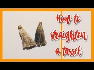 How to fix a tassel | straightening tassel thread