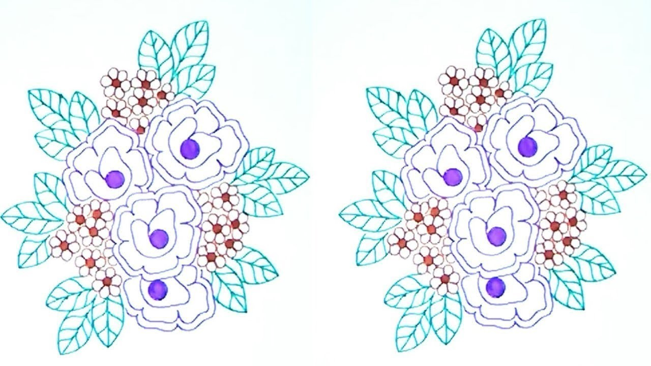 How to flower designs drawings simple pencil sketch embroidery designs patterns