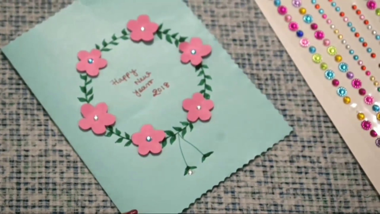 how to make 5 new year greeting cards l easy simple l 5 sweet cute cards l sangitas creation l