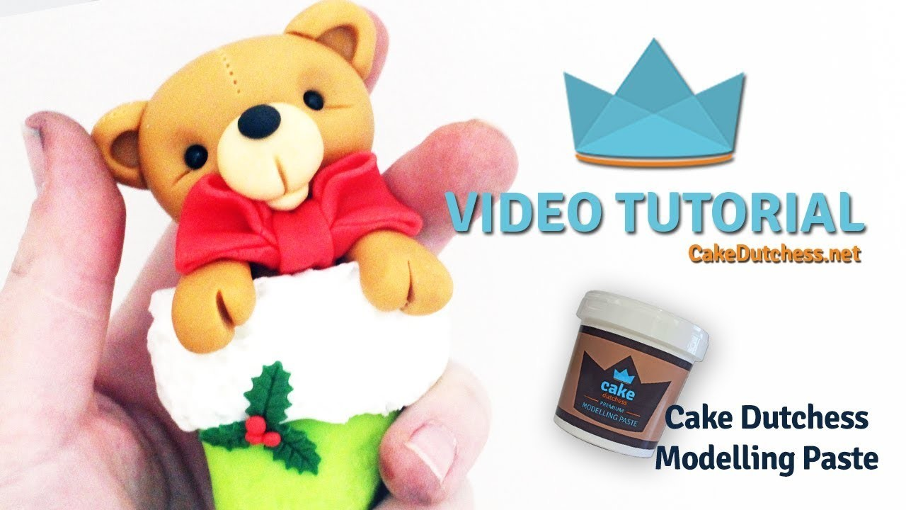 How to make a Christmas Bear in stocking