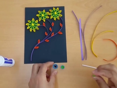 How to make a Greeting Quilling Card - DIY Paper Crafts - Birthday Gift Card Ideas # 41