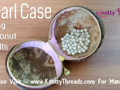 How to Make a Jewelry Box or Case Using Waste Coconut Shell | Best Out Of Waste | Quick and Easy DIY