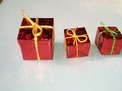 How to make a miniature gift box   Make In Minutes   Gift box kaise banaye  