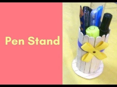 How to make a nice Pen Stand with ice cream sticks | DIY K Craft