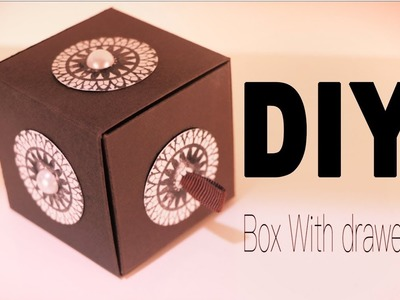 How to make a paper box drawer.diy. new year gift idea