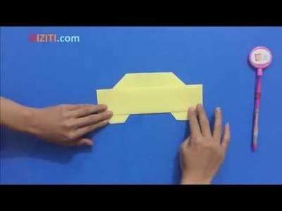 How to Make a Paper Car for Kids Easy Step By Step in 5 Minutes - Origami DIY Crafts for Beginner