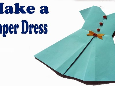 How to make a paper dress. Step by step (very easy)