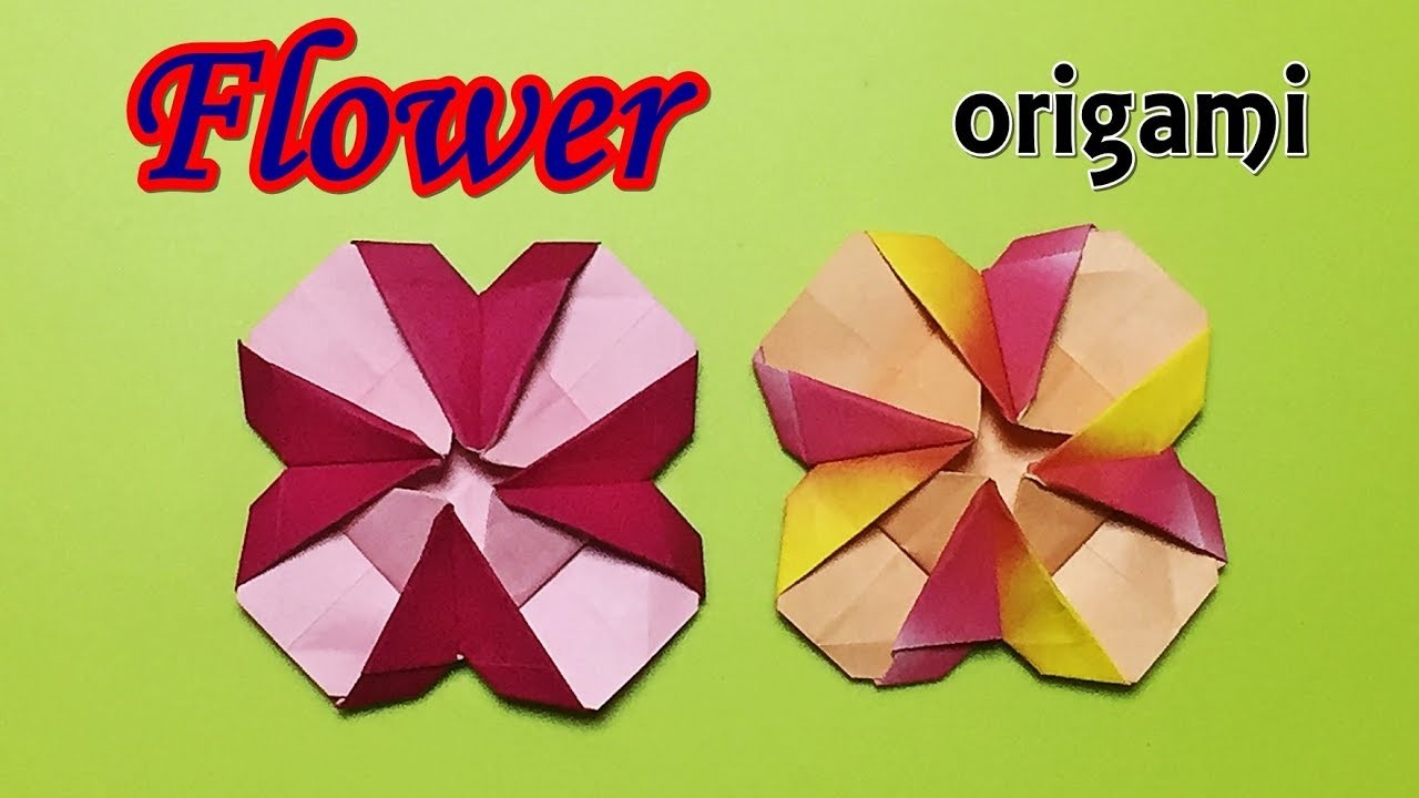 How To Make A Paper Flower Origami Flower Tutorial With One Piece
