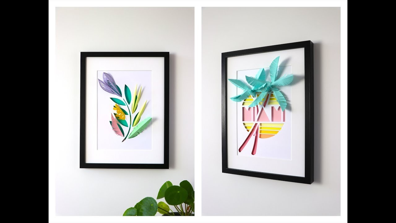 How to make a Paper Leaf Picture Frame | Assembli