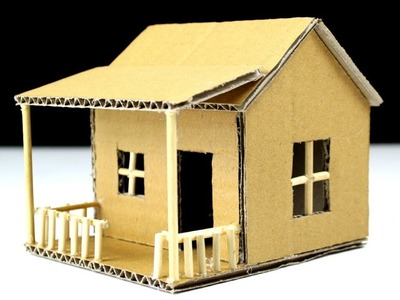 How To Make a Small Cardboard House (BEAUTIFUL & EASY WAY)