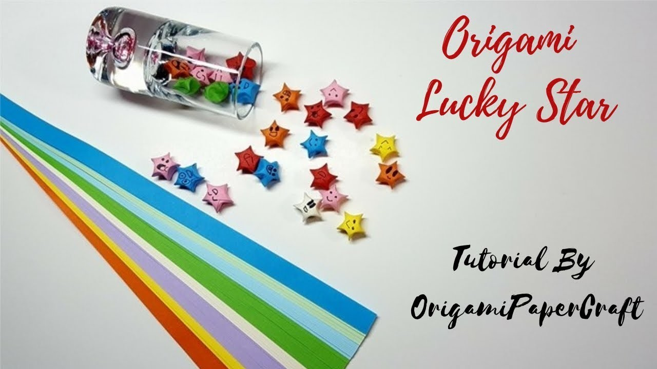How To Make An Origami Lucky Star (Ngôi Sao Mai Mắn) IITutorial By OrigamiPaperCraft